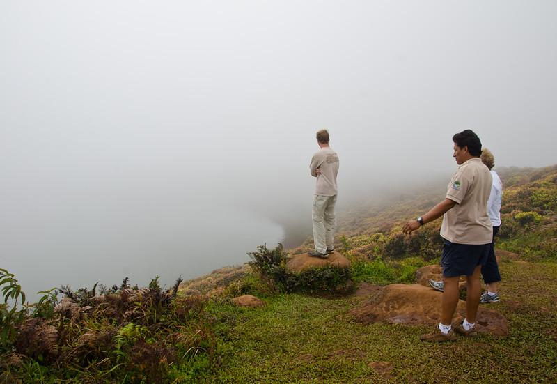 David, National Park Guide, Jorge and Sue at El Junco.