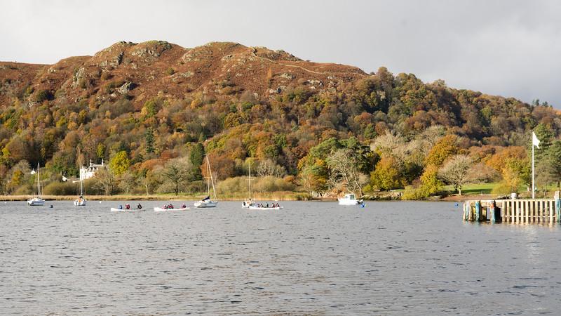 Boating on Windermere lake