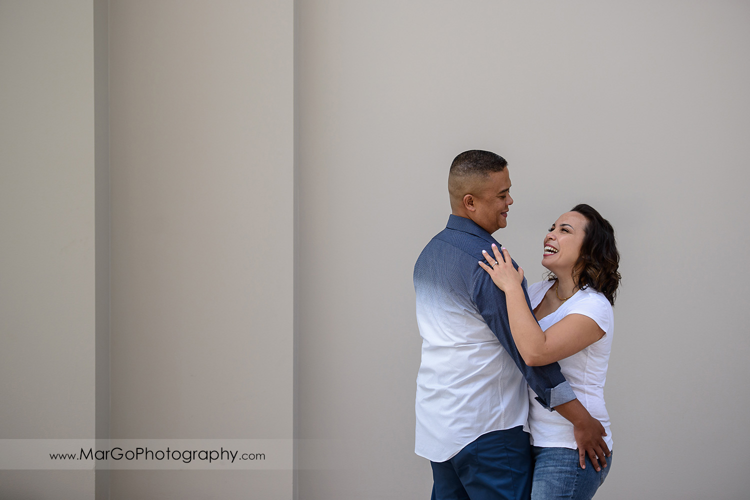 engagement session at Ferry Building in San Francisco - couple together