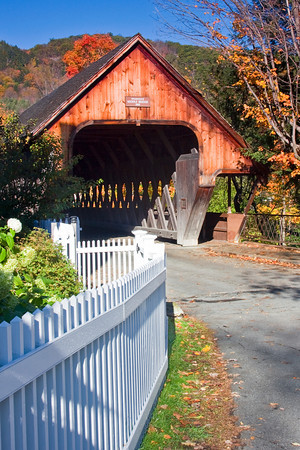Covered Bridge in the Village of Woodstock, Vermont