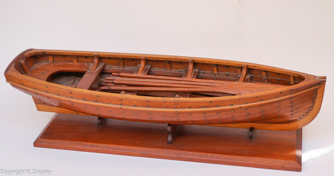 Model whaler made by Alf Russell.