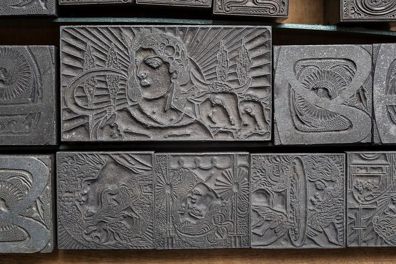 Art Nouveau allegoric representations.