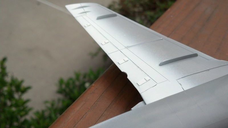 140604: Re-scribed wing flap & hinge detail.