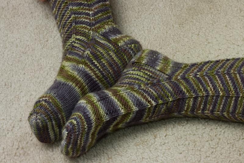 Jaywalkers, by Grumperina, in Socks That Rock Mediumweight, colorway Monsoon.