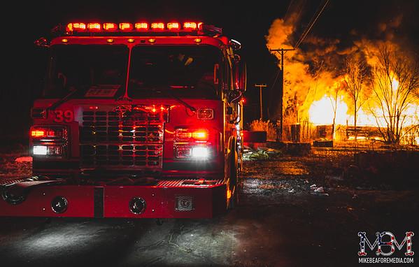 Detroit MI, Pallet Yard Fire 1-10-2021