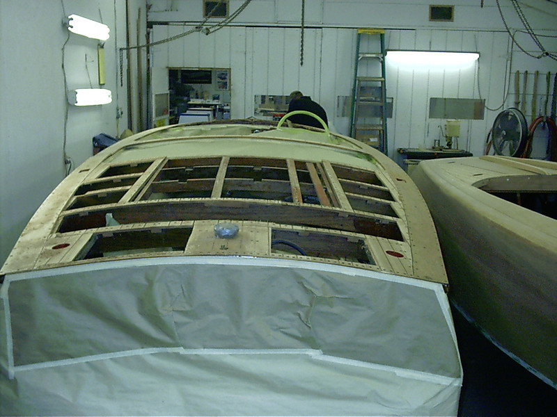 Rear deck being removed.