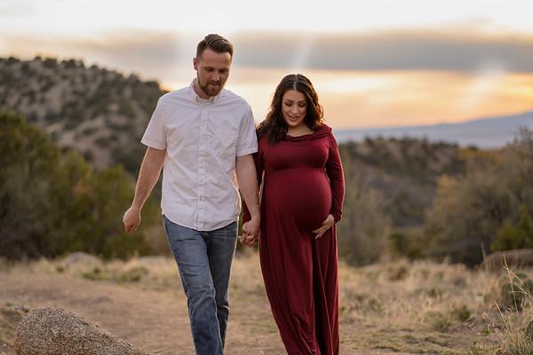 Albuquerque Juan Tabo Sandia Spring Twins Maternity Session