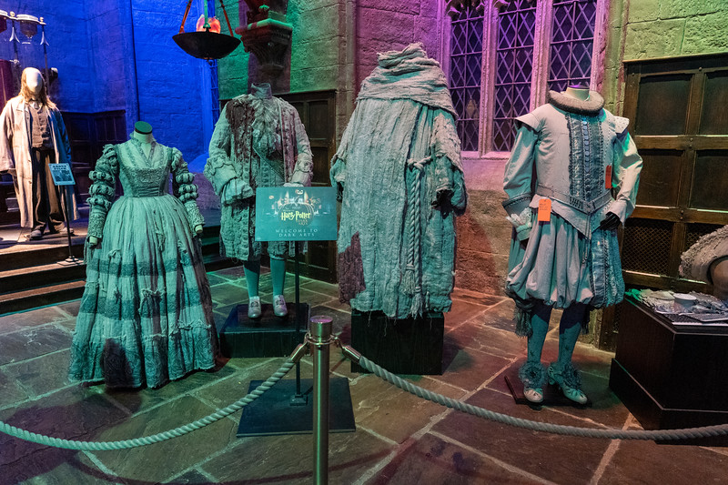 Harry Potter ghost costumes at Warner Bros. Studio Tour London