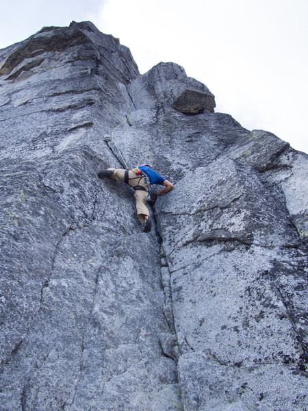 first pitch of 5.9 on the Gendarme