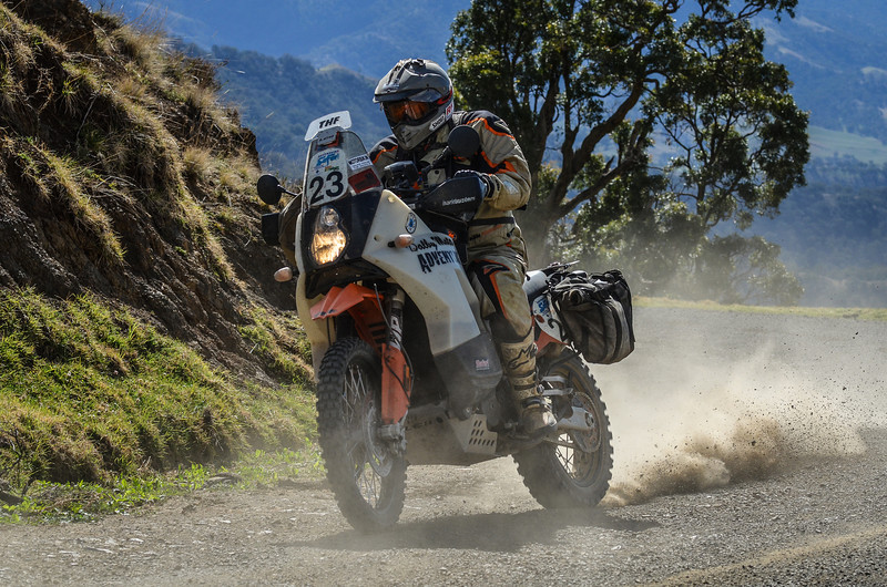 Craig Hartley making his way over the Barrington Tops on his KTM 950 Safari bike (with over 100,000km's on the clock).