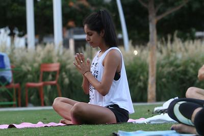 Mattress Firm Yoga at Klyde Warren