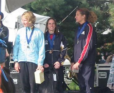 2003 Times-Colonist 10K - The top-3 women - Lucy Smith, Nancy Tinari, Carolyn Murray