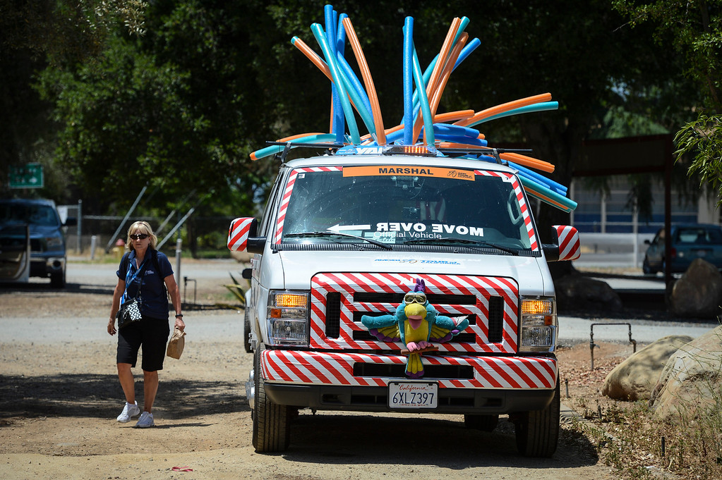 . The colorful marshall van at the KOM summit on stage 4 of the Amgen Tour of California Wednesday.  Stage 4 of the Amgen Tour of California started in Santa Clarita and ended in Santa Barbara.  Photo by David Crane/Staff Photographer