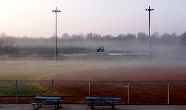 Morning fog in Omaha