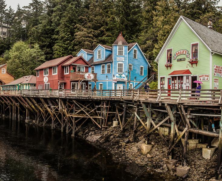 Historic Creek Street in Ketchikan, Alaska