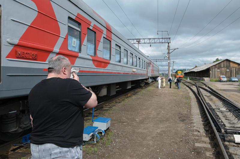 Bei den längeren Stops dürfen wir den Zug verlassen.
