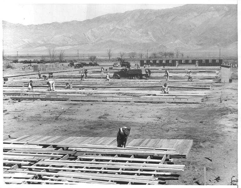 """""""Construction Pushed On Japanese Community"""" -- caption on photograph"""