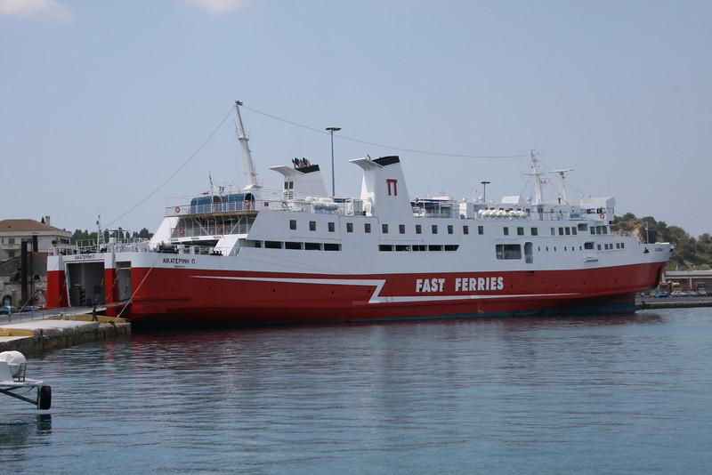 F/B EKATERINI P moored in Corfu.