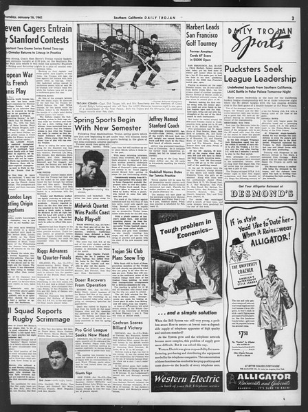 Daily Trojan, Vol. 32, No. 73, January 16, 1941