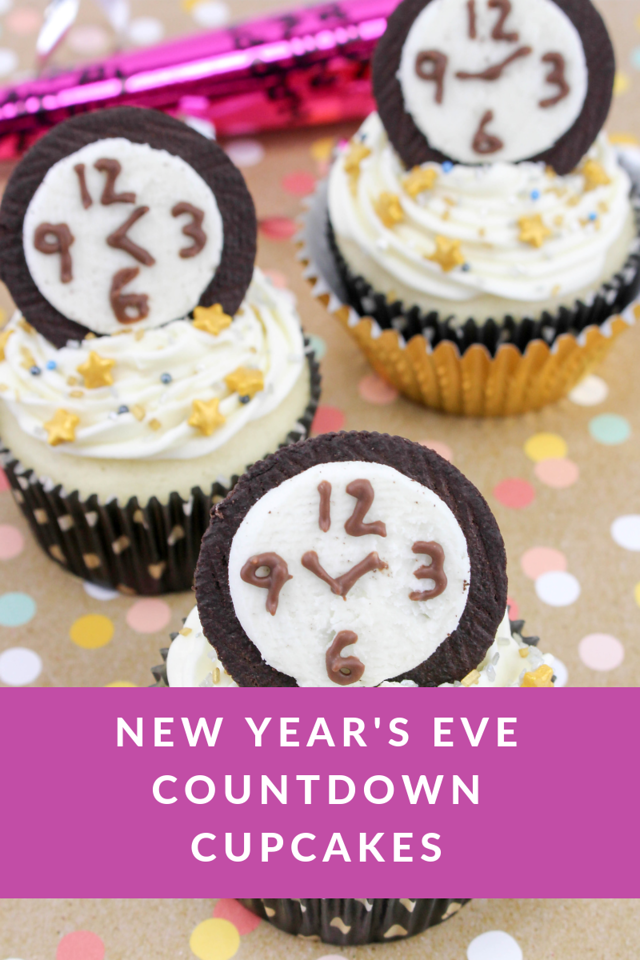 These fun, festive Countdown cupcakes would make a fun treat for a New Year's Eve Party!!! Have the kiddos make them while they wait to ring in the new year