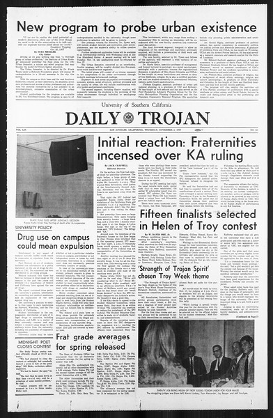 Daily Trojan, Vol. 59, No. 33, November 02, 1967