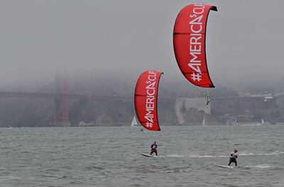 Americas Cup Kiting July 2013