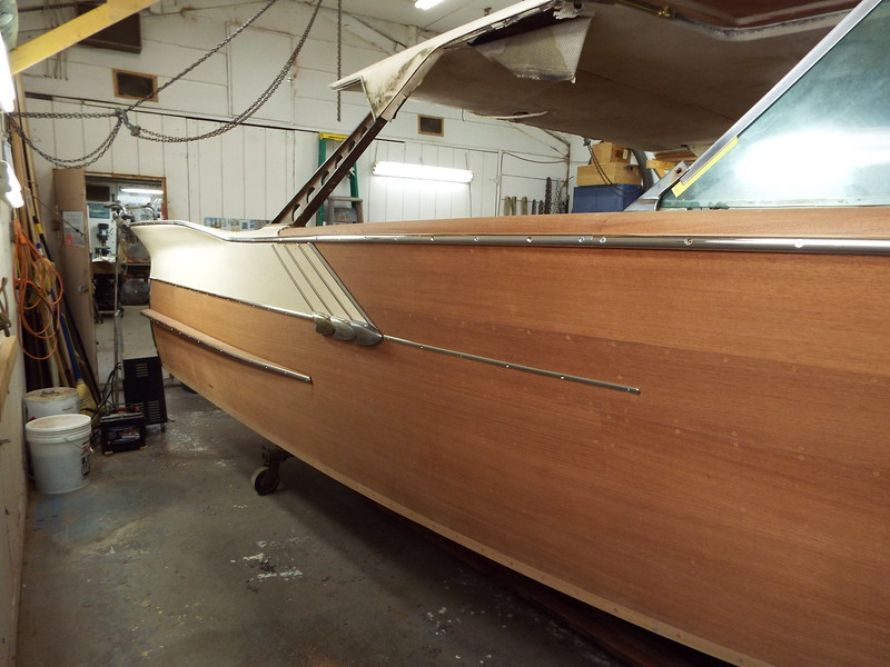 Last piece of stainless trim installed on the starboard side.