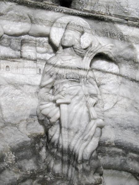 Figurine carved into salt wall