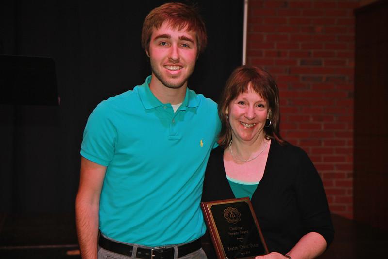 Chemistry Service Award: Keaton Greer