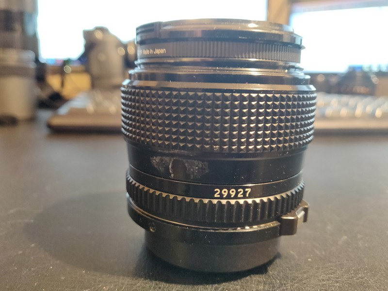 Canon FD 50 mm 1.2 - Serial V900 & 29927 004.jpg