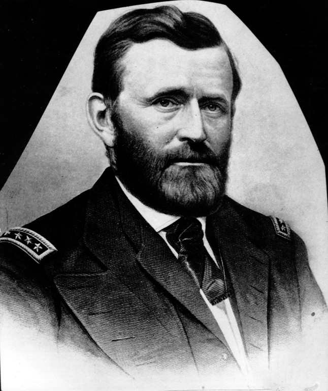 . This is an undated photo of a sketch of Gen. Ulysses S. Grant.  Grant led the Union Army to victory during the American Civil War, and accepted the Confederate surrender at Appomattox Court House in 1865.  He was made full general in 1866, and was elected U.S. President in 1868 and 1872.  (AP Photo)