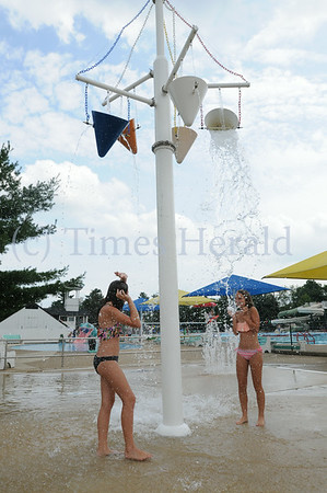 Kids enjoy the cool water at Mermaid Country Day Camp in Whitpain
