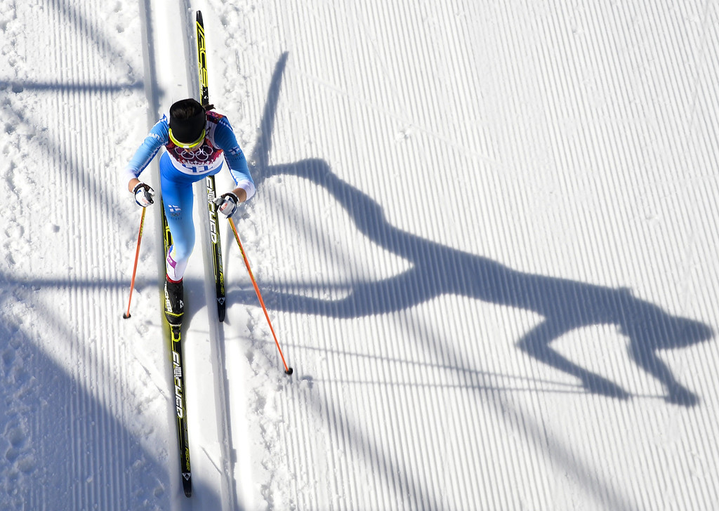 . Finland\'s Kerttu Niskanen competes in the Women\'s Cross-Country Skiing 10km Classic at the Laura Cross-Country and Biathlon Center during the Sochi Winter Olympics February 13, 2014 in Rosa Khutor near Sochi.   ODD ANDERSEN/AFP/Getty Images