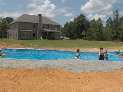 Swimming pool install - swim