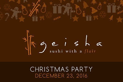 Geisha's Christmas Party 2016 12/23/16