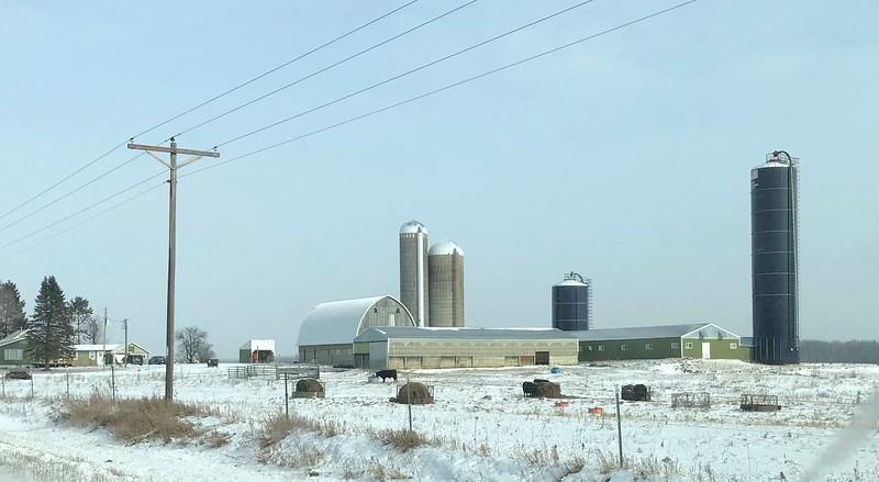 I love winter farm scenes.