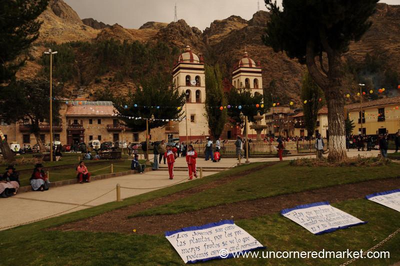 Main Square in Huancavelica, Peru