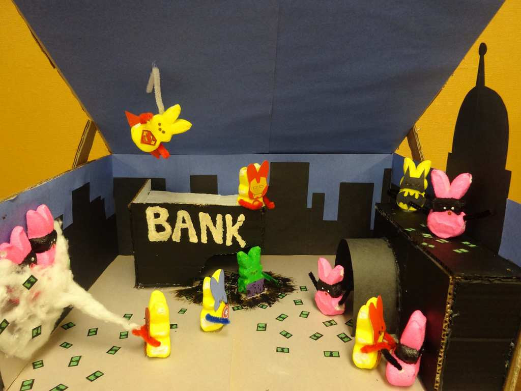 """. \""""Super Peeps,\"""" by Khaing Thin Yee, a 10th-grader at Humboldt High School in St. Paul"""