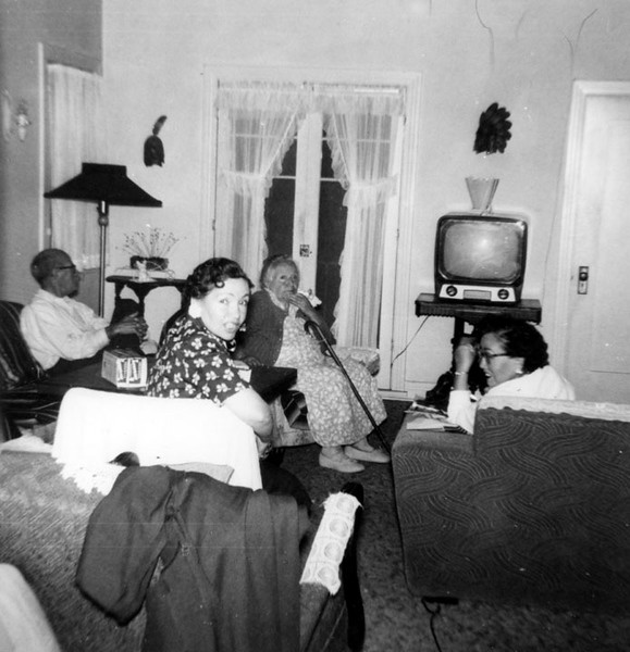 1955, Martinez Family at Home