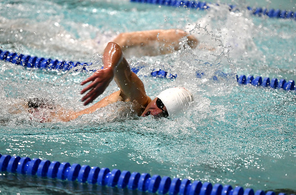 1/7/2020 Mike Orazzi | Staff Bristol swimmer Mikel Palaj in the 200 freestyle against Hall High School in Bristol.