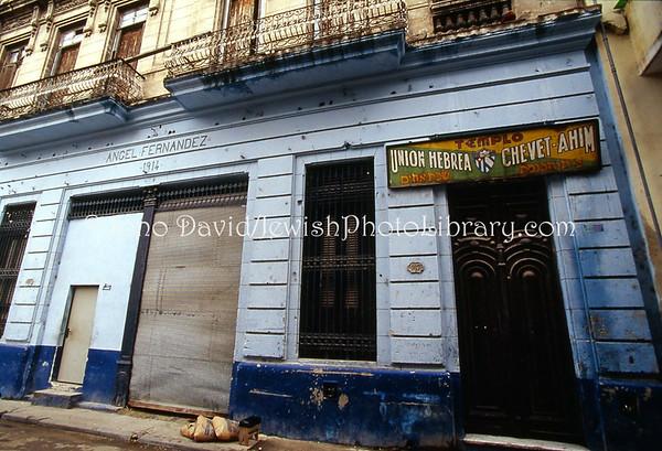 CUBA, Havana. Chevet Achim Synagogue (ruins), Old Havana. (2008)