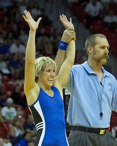 Women's Freestyle Championships 55 Kg: Marcie Van Deusen (Sunkist Kids) defeated Sally Roberts (Gator Wrestling Club)