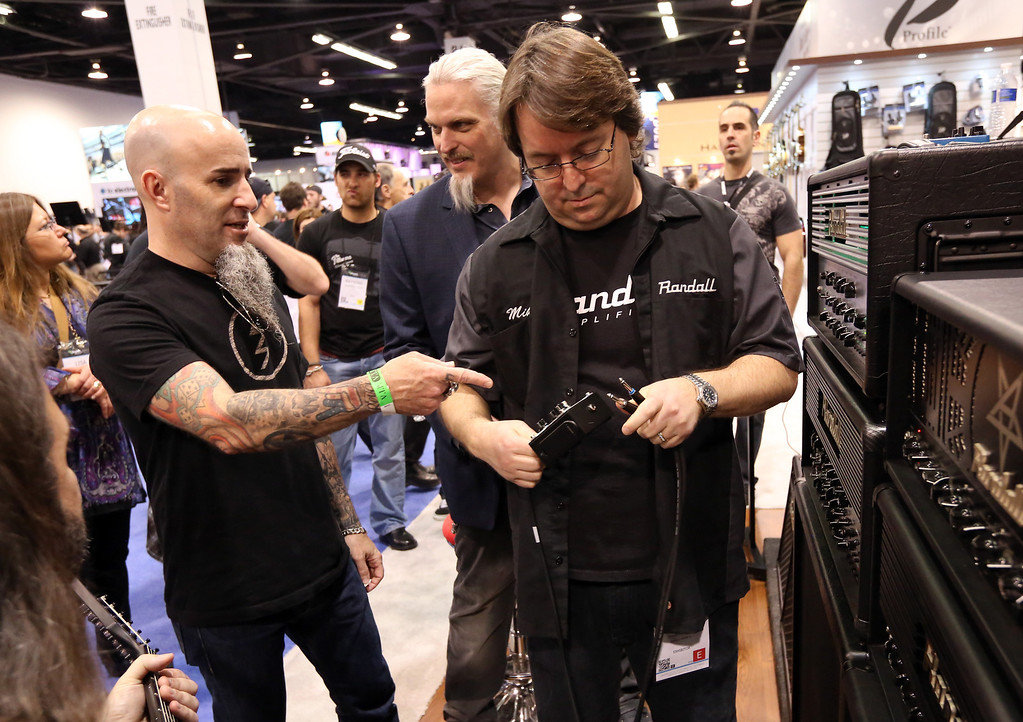 . ANAHEIM, CA - JANUARY 25: Musician Scott Ian of Anthrax attends the 2014 National Association of Music Merchants show at the Anaheim Convention Center on January 25, 2014 in Anaheim, California.  (Photo by Jesse Grant/Getty Images for NAMM)