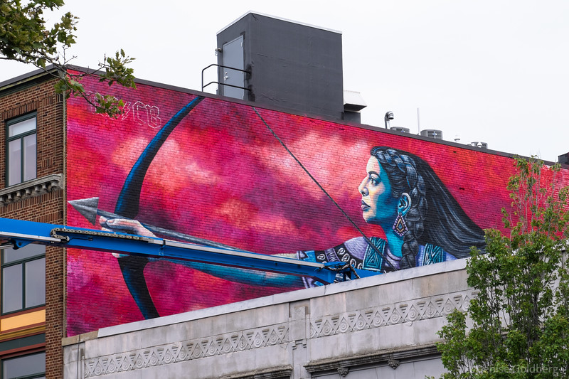 mural by Nicole Salgar and Chuck Berrett (NS/CB)