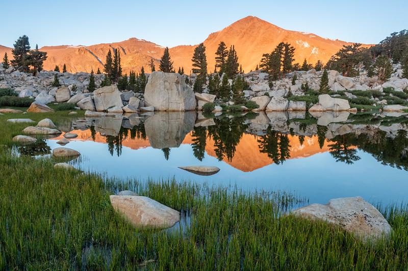Cirque Peak reflected in Lake No. 2.