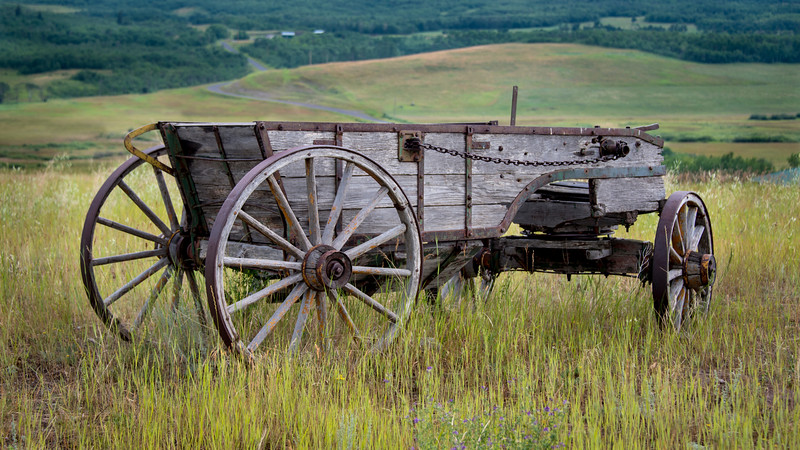 Old wagon - Alberta foothills