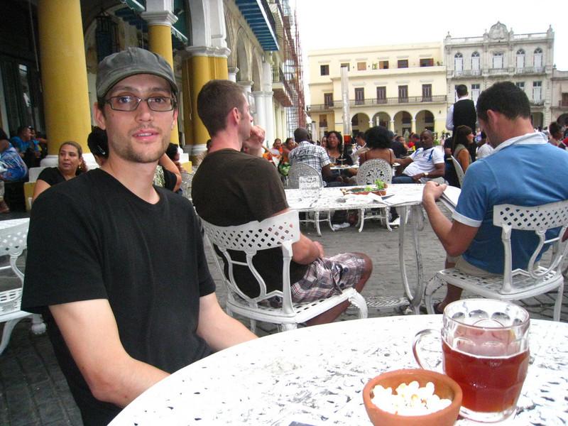 Back in Plaza Vieja at the pub