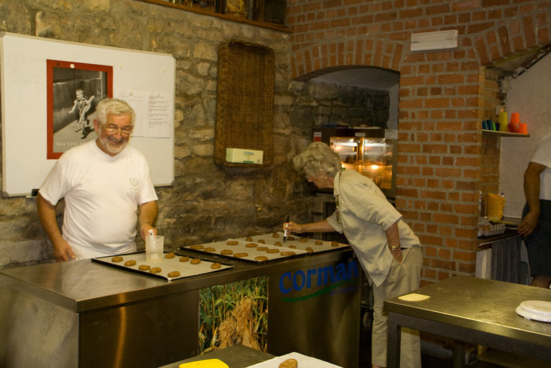 Besides going through the mill - museum, we got to make speculoos cookies, a Belgian treat. Thats the pastry chef and