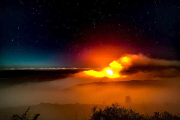 Halemaumau Glows just before dawn