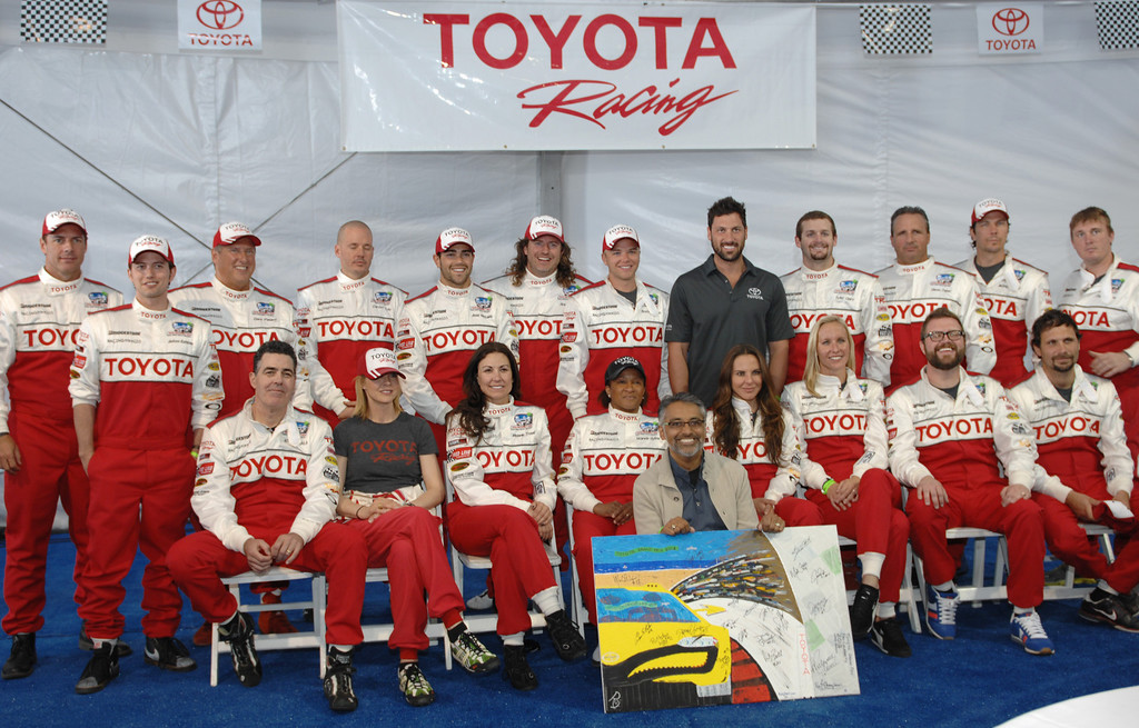 . 4/9/13 - Media day for the 39th Annual Toyota Grand Prix of Long Beach. The celebrity/pro races spent the day practicing on the track, joking with their racing partners and giving interviews. Photo by Brittany Murray / Staff Photographer